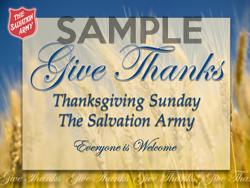Thanksgiving Sunday Card